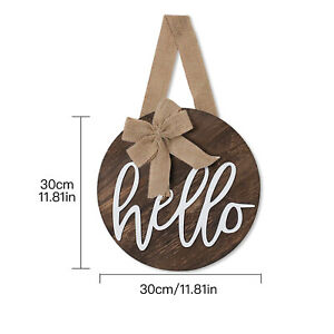 Front Door Sign Hanging Decor Double Bow Garden Wall Country Style Hanging Tag
