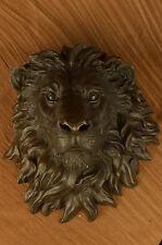 Hot Cast Art Deco Bronze Wall Mount Lion King Animals Sculpture Figure Wildlife
