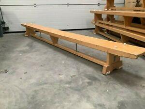 11 Foot  Wooden School Gym Bench