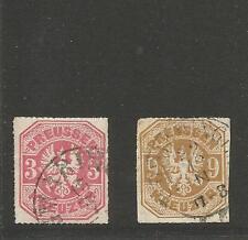 TH & T/Sigmaringen 13/7 + 22/12 (1867) per k1 A. PR. 24 + 26, certi-splendore