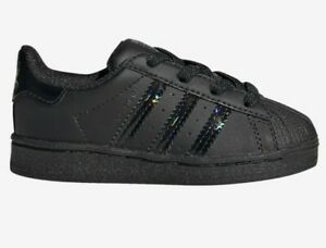 New Adorable adidas originals superstar Baby Girl's Athletic Shoes Size 4k Black