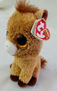 """Ty Beanie Boos """"Harriet Horse""""  plush 6""""  pony collector animal  brown  New, Tag"""