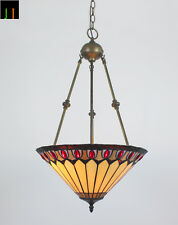 "EOFY Special 16"" Tiffany Inverted Diamond Stained Glass  Pendant Light Home"