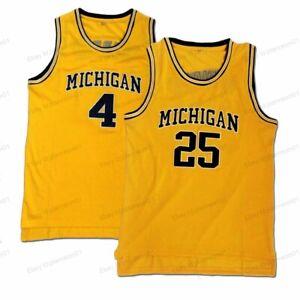 Chris Webber #4 Juwan Howard #25 Michigan Wolverines College Basketball Jersey