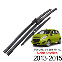 Front Rear Windshield Wiper Blades Set For Chevrolet Spark 13-15 North America