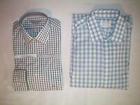 NWT NEW mens plaid VAN HEUSEN l/s wrinkle free dress shirt $45 retail