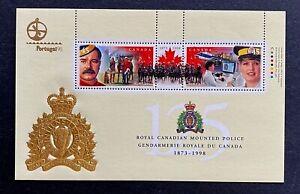 "Canadian Stamps, Scott #1737d 125th Anniv RCMP (1998) ""Portugal"" Souvenir Sheet"