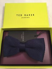 Ted Baker Bow Tie 100% With Box Knitted Navy
