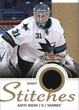 2013-14 Fleer Showcase Stitches #SAN Antti Niemi Jersey BX 405M3