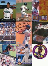 Fred McGriff Huge lot of 90 Baseball Cards with inserts and a #'d card Blue Jays