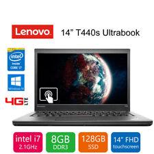 "Lenovo ThinkPad T440s Ultrabook Laptop 14"" i7 2.1GHz 8GB 128GB SSD Win 10 Pro"