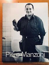 PIERO MANZONI Serpentine Gallery 1998 con Merda d'Artista Catalogue
