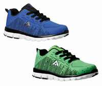 Boys Shoes Aerosport Boost Lace up Runners Blue or Green Sneakers Size 13-5 NEW