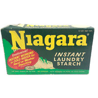 Vintage 60s Niagara Instant Laundry Starch Powder Box Advertising Prop Partial