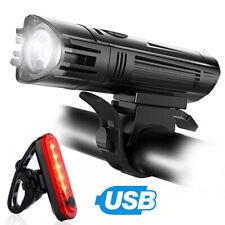 LED Akku Fahrrad Beleuchtung Set 400LUX Licht StVZO Lampe Scheinwerfer Rücklicht