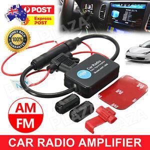 Strengthen Booster Radio aerial splitter AM FM Signal Amplifier Car Antenna