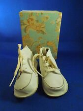 Vintage The Lily Shoe Company Zippered Pre-Walkers White Baby Shoes