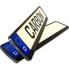 2x Charbon Support de Plaque D'Immatriculation Porte-Plaque Carbone