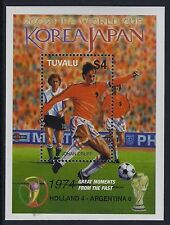 2002 TUVALU WORLD CUP FOOTBALL JAPAN/KOREA MINISHEET FINE MINT MNH/MUH