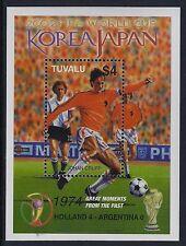 2002 TUVALU WORLD CUP FOOTBALL JAPAN/KOREA MINISHEET FINE MINT MNH/MUH