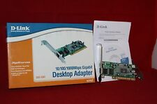 PCI Desktop Gigabit Network Ethernet Adapter, D-Link DGE-530T. (With 2 Brackets)