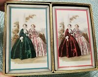 1940 CONGRESS Double Deck PLAYING CARDS WOMEN FASHION DRESSES Period Vintage