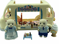 Calico Critters Sylvanian Families Ice Cream Van And Ice Cream Sellers RARE