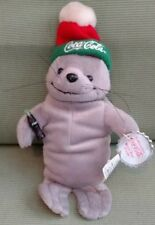 Coca-Cola Seal in Ski Cap Bean Bag Plush style 0114