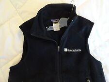 Patagonia Synchilla Black Fleece Vest DIVIDEND CAPITAL Size- Large Women's  EUC