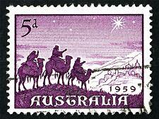 POSTAGE STAMP AUSTRALIA VINTAGE MAGI CHRISTMAS PHOTO ART PRINT POSTER BMP1795A