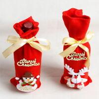 Red Wine Bottle Cover Bag Snowman/Santa Claus Christmas Xmas Table Decoration