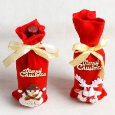 Red Wine Bottle Christmas Cover Bag Snowman/Santa Claus Xmas Table Decoration