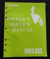 GENUINE 1992 1993 SUZUKI 250 RMX250 MOTORCYCLE OWNER'S SERVICE MANUAL VERY CLEAN