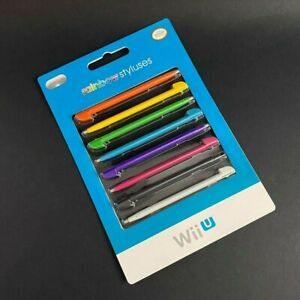 Nintendo Wii U Rainbow Styluses Set of 8 - Brand New, Factory Sealed