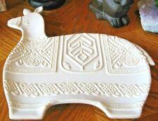 New Lg Ornate Llama Make-Up Jewelry Trinket Key Vanity Dresser Ceramic Tray Dish