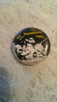 Vintage Pinback Button Pin The Boomtown Rats Band