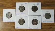 NICKEL COIN COLLECTION 1935 1958 1966 2004 2005 2003~~Coins Lot #103