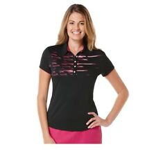 Women's Grand Slam Golf Polo XS Extra Small NWT Black Pink