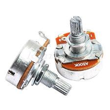 2Pcs 500K-ohm Full Size Base Dia:24mm Volume Potentiometer