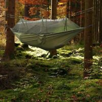 Parachute Double Hammock Mosquito Net Camping Hanging Bed Sleeping Nylon Fabric