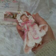 """ooak sculpt doll/hand made/artist made doll polymer clay reborn baby 5""""/gift"""