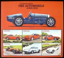 2000 MNH LESOTHO CAR STAMPS SHEET THE AUTOMOBILE DODGE VIPER FERRARI PEGASUS
