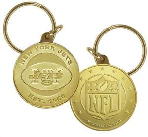 New York Jets NFL Keychain Coin Keyring Highland Mint Made In USA Fan Gift