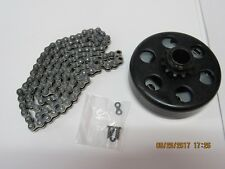 "#41 Chain, 3/4"" Bore, 10 Tooth Go-Kart/Mini-Bike Clutch w/4' Chain - FREE SHIP"