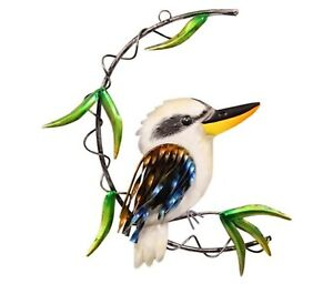 Australian Kookaburra Bird Metal Hanging Wall Art Sculpture Home Décor 28 cm