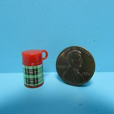 Dollhouse Miniature Plastic Beverage Coffee Thermos in Green Plaid HR57001G