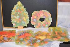Lot 6 Vintage CHRISTMAS TREE Wall Paper Decor School Window