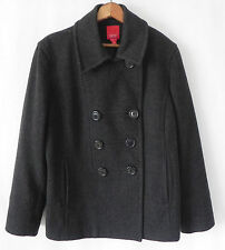 Esprit Peacoat Dark Grey 100% Wool Double Breasted Size L