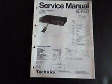 Original Service Manual Technics Compact Disc Player SL-P333