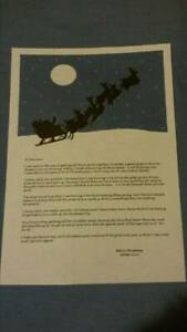 Truly Personalised Letter From Santa And North Pole Stamped Envelope Silhouette